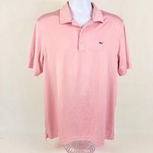 Vineyard Vines Pink Polo Shirt Sz Medium
